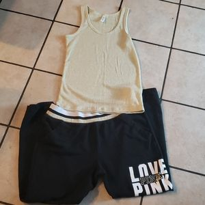 Victoria's Secret tank and joggers